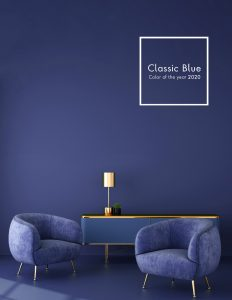 Use Pantone Colour of the Year 2020, Classic Blue in your event furniture